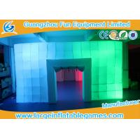 Quality 8.5*6*3M Inflatable Air Tent , Inflatable Colorful Tent With LED Lights for sale