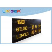 Quality Australia AFL Mode Led Electronic Scoreboard with Time Function in Yellow Color for sale