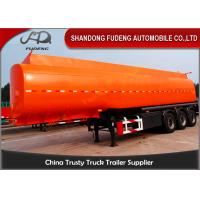 Flammable Fuel Tanker Truck25000 L , Fuel Tank Trailer With 3 Compartments