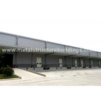 Quality Light Steel Structure Warehouse Depots With Aluminium Sandwich Panel Double Curved Roof for sale