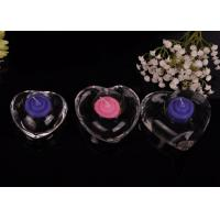 Quality High White Transparent glass tealight candle holders for wedding centerpieces , Heart Shape for sale