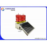 Quality Red Double Solar Aviation Obstruction Light Low-intensity light  for High Chimney for sale