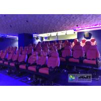 Quality JBL Sound System 6D Movie Theater Black / Red Motion Chairs For Shopping Mall for sale