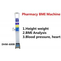 Quality Pharmacy Height And Weight Measuring Scale With Blood Pressure Machine DHM - 600B for sale