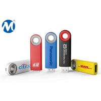 Quality Metal Swivel capless usb flash drive with key loop and can do laser logo for sale