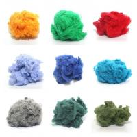 Quality 1.2d-90d dope dyed recycled polyester staple fiber made of 100% PET flakes for sale