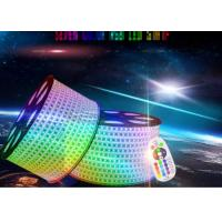 Quality Ip67 Led Rgb Strip Lights , 80ra High Voltage Led Strip Extremely Luminous for sale