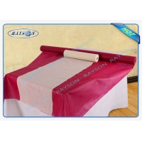 China Pre Cut Pp Non Woven Tablecloth 50gram Rolled Packed By Heat Shrink Film on sale