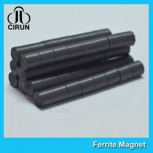 Quality Hard Cylinder Ferrite Magnet For Rotors / Fridge SGS RoHS Certification for sale