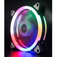 Buy cheap OEM Dual Ring RGB Case Fan 12cm with Programmable Rainbow LED Light from wholesalers