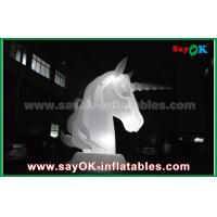 Quality Full White Oxfiord Cloth Inflatable Horse Unicorn With LED Light for sale