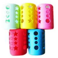 Quality Eco Friendly Silicone Bottle Sleeve Glass Water Bottle Protective Unbreakable for sale