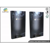 Quality Black Foldable Paper Electronic Product Packaging Boxes Customized for sale