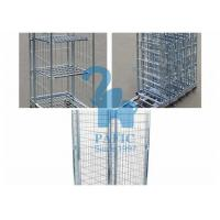 Quality Electroplating Steel Nestable Roll Containers , Four Wheels Security Storage Cage for sale