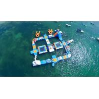 China Giant Adult Giant Blue inflatable sport park For Wake Island ,Water sports equipment For Ocean for sale