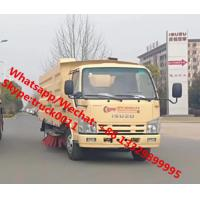 2020s new ISUZU 4*2 600P diesel Euro Ⅴ 130hp road sweeper truck for sale, road cleaning truck with sweeping brushes for sale