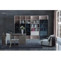 Quality Cheap Apartment room Fashion Home office Furniture Study Computer Reading table and Glass door bookcase with wood Shelve for sale