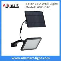 Quality 18W Solar LED Wall Light with LiFePO4 Battery Separate Solar Panel 3m Wire Adjustable Angle 48LED Solar Garden Light for sale