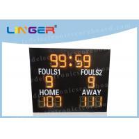 Quality Different Sports LED Electronic Scoreboard Outdoor Front Glass Board UV Protection for sale