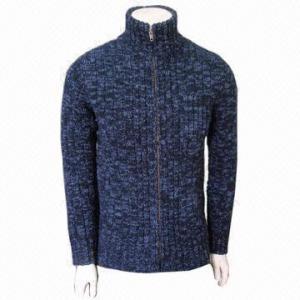 Quality Fashionable Men's Cashmere Cardigan, Woolen Wear, Warm for sale