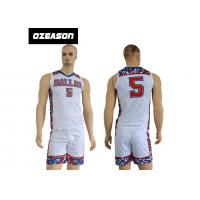 Buy cheap Factory Price 100% Polyester New Model Sports Baskrtball Uniform For Men from wholesalers