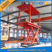 Quality 3T+3T Double Deck Hydraulic Scissor Car Garage Lift For Basement With CE SGS TUV for sale