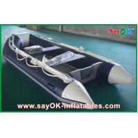 Quality Rigid Hull Fiberglass Small Inflatable Boats With Heavy Duty Aluminum Floor for sale