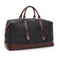 Quality 16 Ozs  Duffle Canvas Large Travel Bags , 1.25 KG Heavy Duty Travel Luggage Bags for sale