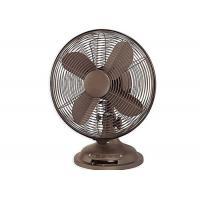 Quality Retro Electric Table Fan 4 metal blade 85 Degree Oscillation ETL Listed for sale