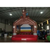 Quality Simple inflatable horseman bouncer house 0.55mm PVC inflatable horse jump house for supply for sale