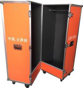 Quality Customized Bright Color Closet Case , Folding Aluminium Flight Case For Clothes for sale