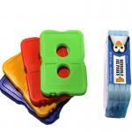 Quality Two holes hard plastic slim cool cooler food gel ice pack for cooler bag for sale