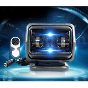 Quality 7 Inch 4800lm 12V 60W Marine Boat Rotating Remote Control Spotlight Searchlight Light Car Bulb for sale