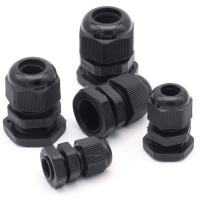 Quality Water Proof Outdoor Cable Accessories , Black Cable Gland Connector for sale