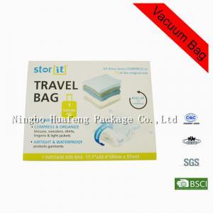 Quality Custom Zip Lock Large Blankets Clothes PET + PE Vacuum Seal Storage Bag for sale