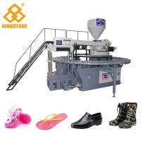 Buy cheap One Color PVC Crystal Plastic Shoes Making Machine With Oil Pressure Circuit from wholesalers