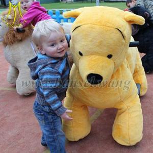 Quality Hansel plush walking animals play kids mall stuffed animal ride electric for sale