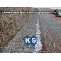 Quality Zinc Coated Wire Mesh Fence , Stainless Steel Wire Galvanized Hexagonal Gabions for sale
