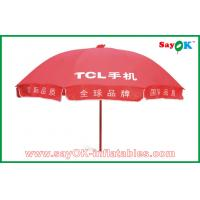 Quality Market Advertising Red Sun Umbrella Waterproof For Promotion 3X3m for sale
