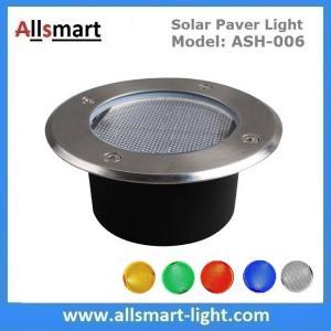 Quality Φ130x60mm Round Solar Paver Lights Maintenance Free Solar Brick Lights Solar Underground In-ground Lights Waterproof for sale