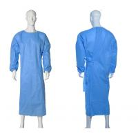 Quality Isolation Disposable Medical Gowns , Disposable Plastic Gowns PP Material for sale
