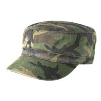 Quality 100% Cotton Twill Camo Flat Top Army Patrol Cap ,  Army Green Army Flat Cap for sale