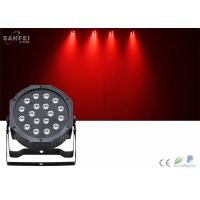 Quality 18 PCS 1W LED Par Can Stage Lights With Plastic Body / 35° Beam Angle for sale