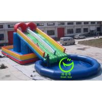 Quality inflatable water slide with pool with 24months warranty from GREAT TOYS for sale