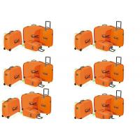 China Bright Color Hard Shell Wheeled PP Suitcase Luggage Set Of 4 For Travelling on sale