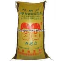 Quality Recycled PP Woven Sacks Animal Feed Bags with Silk Screen , Heat Transfer Printing for sale
