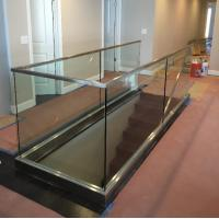 Quality Interior Glass Railing Systems With Toughened Glass Panel And U Channel Base for sale