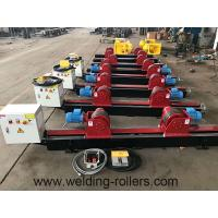 Quality Lead Screw Pipe Welding Rotator Rubber And Steel Wheel Welding Roller Beds 20T Load Capacity for sale