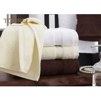 Quality Wholesale 100 Cotton Plain Dyed Hotel Towel Set Absorbent White Soft Hotel Bath Towel Set for sale