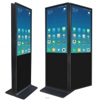 "Quality 55""interactive touch kiosk double-face standing advertising equipment stand up kiosk for sale"
